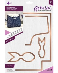 Gemini Multi Media Bag Making Metal Die - Tote Clutch Bag and Bow Set
