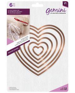 Gemini Multi Media Metal Die - Nesting Hearts