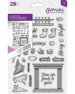 Gemini Dimensionals Clear Stamp - Fireplace Accessories