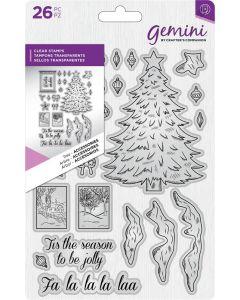 Gemini Dimensionals Clear Stamp - Tree Accessories
