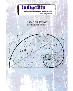 IndigoBlu A6 Red Rubber Stamp by Kay Halliwell-Sutton - Golden Ratio