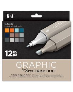 Graphic by Spectrum Noir 12 Pen Set - Industrial