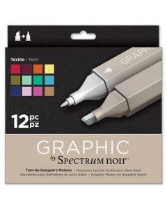 Graphic by Spectrum Noir 12 Pen Set - Textile