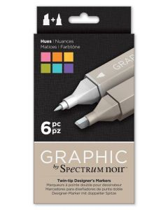 Graphic by Spectrum Noir 6 Pen Set - Hues