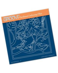 Claritystamp A5 Sq Plate - Birds Roosting
