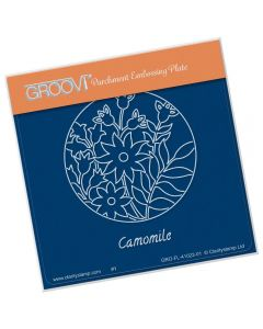 Claritystamp A6 Square Groovi Plate - Camomile and Friends