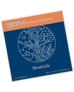Claritystamp A6 Square Groovi Plate - Periwinkle and Friends
