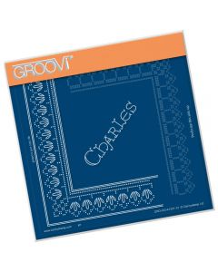 Claritystamp Lace A5 Sq Grid - King Charles