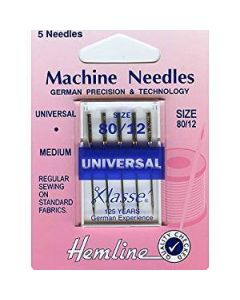 Hemline Universal Machine Needles - Medium 80/12