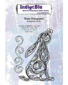 IndigoBlu A6 Rubber Stamp - Hare Stargazer