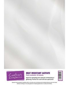Crafter's Companion Heat Resistant Acetate - 15 sheets