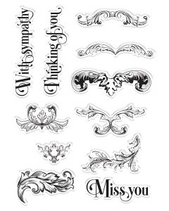Crafter's Companion Clear Acrylic Stamps - Ornate Swirls