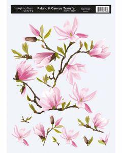 Imagination Crafts Fabric & Canvas (25x35cm) Transfer - Magnolia
