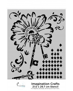 Imagination Crafts A4 Stencil - Diamond Key