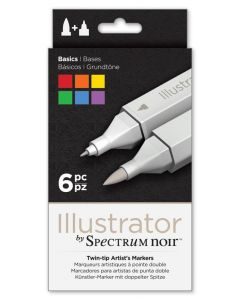 Illustrator by Spectrum Noir 6 Pen Set - Basics