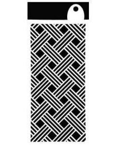 """IndigoBlu Stencil (6""""x 3"""") - Basket Weave"""