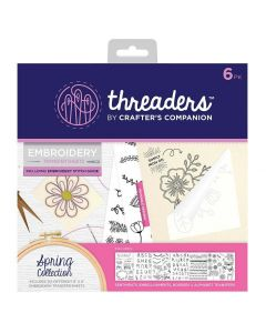 Threaders Embroidery Transfer Sheets - Spring