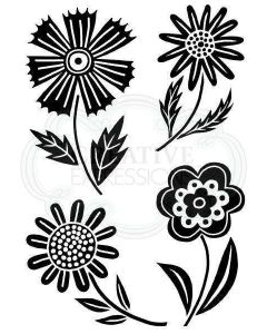 Woodware Clear Singles - Mini Blooms