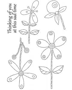 Woodware Clear Singles - Floral Whimsies