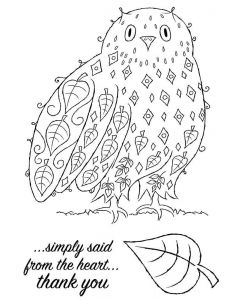 Woodware Clear Singles - Leafy Owl