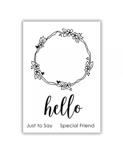 Julie Hickey Essential Sentiments A7 Stamp - Hello