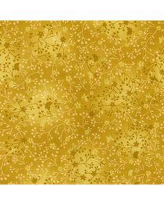 John Louden 100% Flutter Cotton Fabric - Ant-Gold