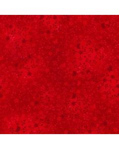 John Louden 100% Flutter Cotton Fabric - Red