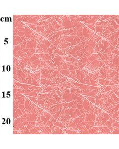 John Louden 100% Cotton Poplin Branches Designs - Pink