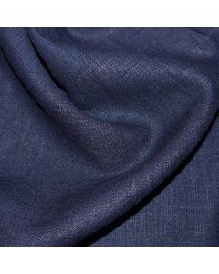 John Louden 100% Washed Linen - Navy