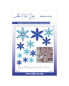 John Next Door Additions Dies - Lattice Flowers (12pcs)