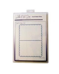 John Next Door Card Base Dies - Small Scallop Card