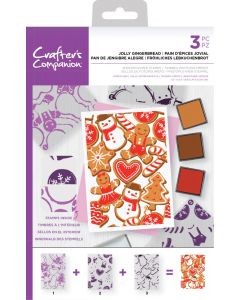 Crafter's Companion Background Layering Stamps - Jolly Gingerbread