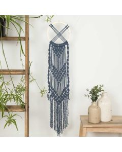 Wool Couture Macrame Wall Hanging - Celtic Hanging Cream