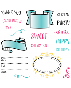 LDRS 4x4 Photopolymer Stamp Set - Party Time