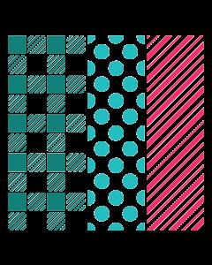 LDRS 6x6 Stencil - Playful Patterns