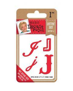 Leonie Pujol Typography Metal Die - Letter Set - J