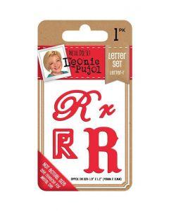Leonie Pujol Typography Metal Die - Letter Set - R