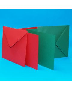 Craft UK Christmas Cards and Envelopes - 6 x 6