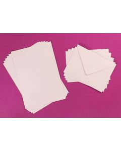 Craft UK 50x 5 x 7 Card and Envelopes - White