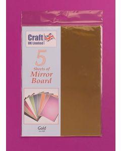 Craft UK 5 Sheets Mirror Board - Gold