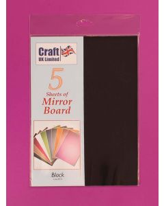 Craft UK 5 Sheets Mirror Board - Black