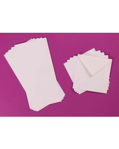 Craft UK 4x4 Card and Envelopes - White