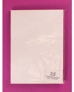 Craft UK C5 White Hammer Card and Envelopes - pack of 25