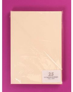 Craft UK C5 Ivory Hammer Card and Envelopes - pack of 25