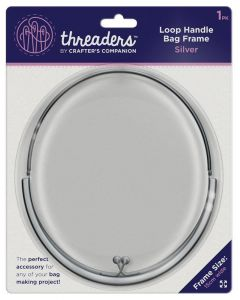 Threaders Loop Handle Bag Frame - Silver
