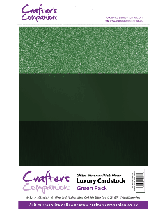 Crafter's Companion A4 Luxury Cardstock Pack - Green