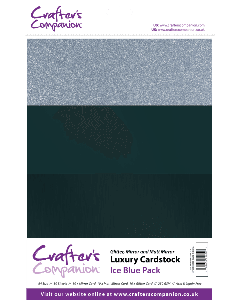 Crafter's Companion A4 Luxury Cardstock Pack - Ice Blue