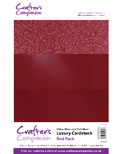 Crafter's Companion A4 Luxury Cardstock Pack - Red
