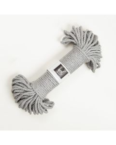 Wool Couture Macrame Rope 5mm - Natural Grey