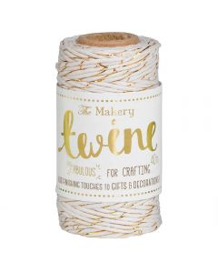 The Makery Bakers Twine - Cream and Gold